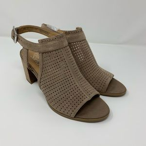 FRANCO SARTO Harley 2 Perforated Open Toe Sandal